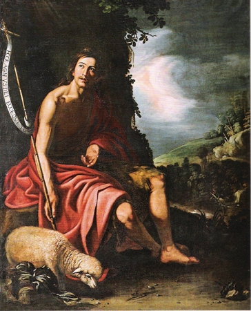 Saint John the Baptist by Juan Van Der Hamen, 1625