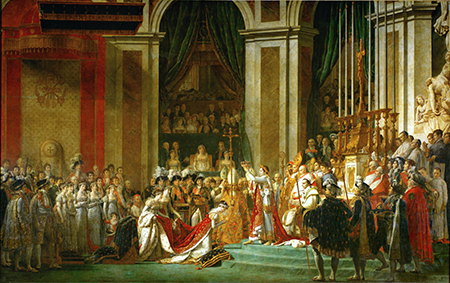 The Coronation of Napoleon by Jacques-Louis David, 1808. Image: wikimedia.org
