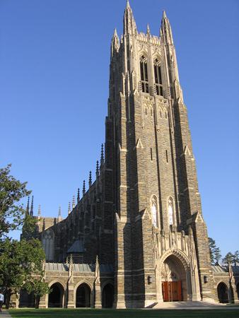 The chapel at Duke University. Photo credit: wikimedia.org