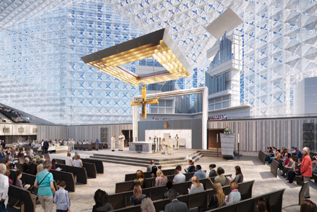 Proposed new interior of Christ Cathedral in Orange County. Photo credit: Los Angeles Times