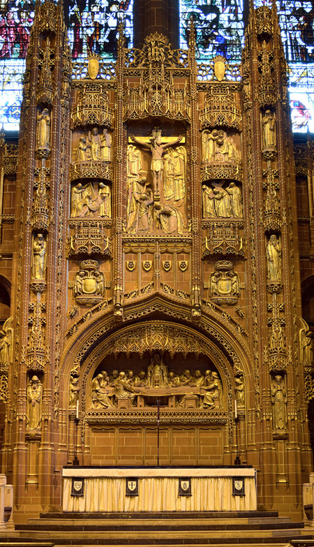 Detail of the high altar reredos. Photo credit: flickr.com/Scouse Hobbit