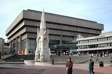 The modernist library in Birmingham's Chamberlain Square was demolished in 2016. Photo: wikipedia.com