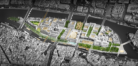 "The proposed ""Mission Ile de la Cité"" project by architect Dominique Perrault. Image: DominiquePerraultArchitecte"