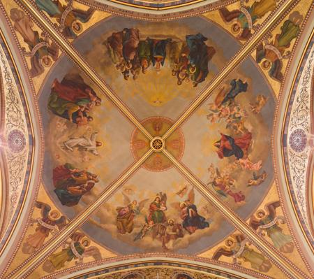 Ceiling of Saint Edmund Church. Photo credit: Noah Vaughn