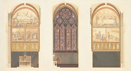 Design for the renovation of a chapel in Notre-Dame by Viollet-le-Duc and Jean-Baptiste Lassus, 1843. Image: wikimedia.org/Metropolitan Museum of Art