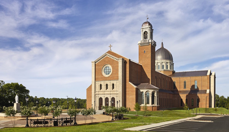 Holy Name Cathedral in Raleigh, North Carolina, was dedicated on July 26th, 2017, and cost $45.7 million. Photo credit: O'Brien and Keane