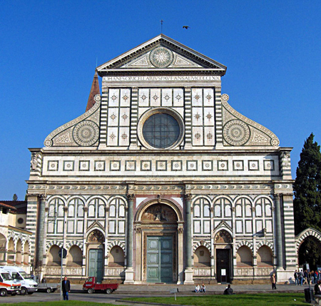 The Church of Santa Maria Novella, completed in 1360 by the Dominicans in Florence