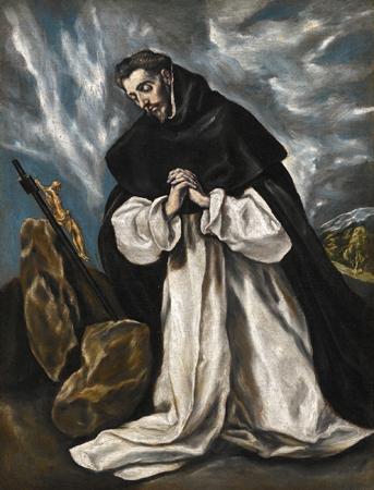 Saint Dominic in Prayer by El Greco, 1588