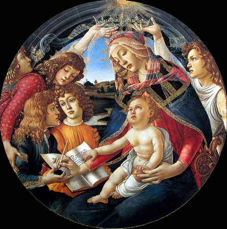 Madonna of the Magnificat by Sandro Botticelli, 1481