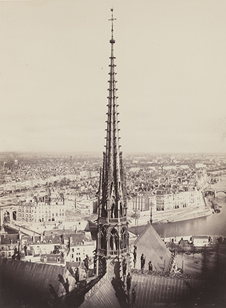 Viollet-le-Duc's Gothic spire. Photo: Charles Marville, AIA/AAF Collection, Library of Congress