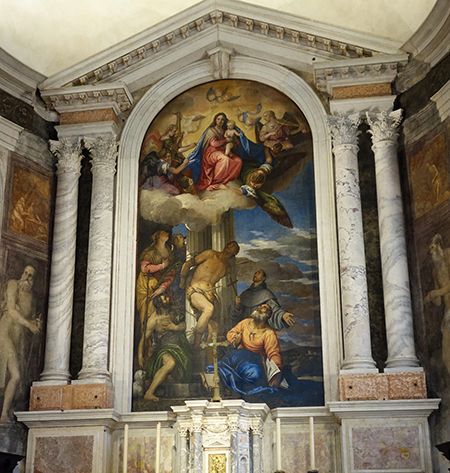 Madonna in Glory with Saint Sebastian and other saints, Veronese. Photo: Richard Bonaccorso