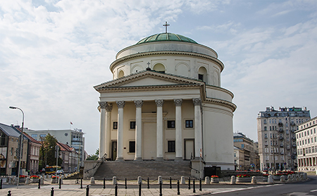 Saint Alexander in Three Crosses Square, Warsaw, was one of many churches reconstructed after World War II. Photo: flickr.com/Le Monde1