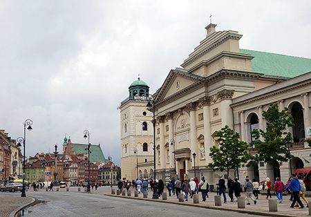 The façade of Saint Anne in Warsaw is often regarded as the finest example of ecclesiastical Palladianism in Poland. Photo: Marcus van der Meulen