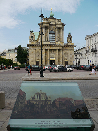 Bellotto's painting of the Church of the Discalced Carmelites, 1780, is displayed near the church. Photo: flickr.com/Marie-Helene Cingal