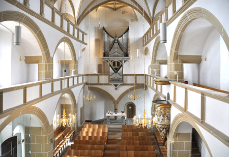Hartenfels Castle Chapel in Torgau was dedicated in 1544, the first newly constructed Lutheran space. Photo credit: wikimedia.org/Andreas Praefcke