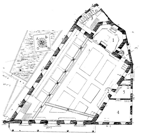 Plan of Holy Cross Church. Photo credit: discoverbaroqueart.org